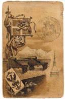 CARTOLINA MILITARE  REGGIMENTALE VIAGGIATA 1905 - BATTERIA DA FORTEZZA - COMANDO - Regiments
