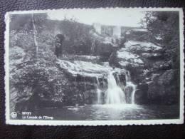 CPSM.    SIVRY.    La Cascade De L'étang.      1933. - Sivry-Rance