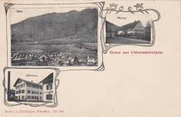Unterammergau - 3 Bilder Mit Pfarrhof Und Schulhaus - Oberammergau
