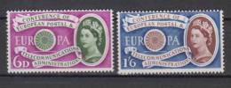 GRANDE BRETAGNE      1960     EUROPA      N°  357/358    COTE  12.50  EURO     (175) - 1952-.... (Elizabeth II)