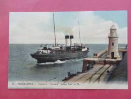 England > Kent > Folkestone -  F Turbine S. Onward Leaving Pier --ca 1910- Not Postally Mailed  ====  -  Ref 714 - Folkestone