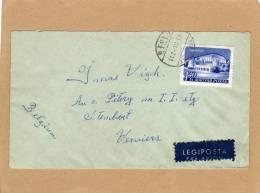 Enveloppe Brief Cover Legiposta Budapest To Verviers Belgium - Ungheria