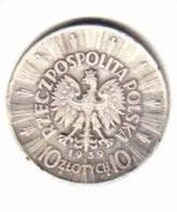 POLAND    10  ZLOTYCH  Silver  1939  (Y# 29) - Poland