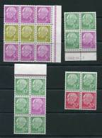 Germany 1954 Combination MNH Pres Theodor Heuss - [7] Federal Republic