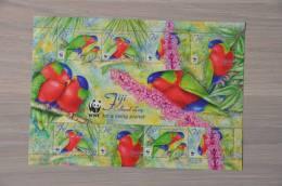 M1 - 41 ++ FIJI 2012 ++ BIRDS OISEAUX VOGELS PARROTS PAPEGAAI ++ POSTFRIS MNH ** - Fiji (1970-...)
