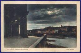 FIRENZE - LUNGARNO ARCHIBUSIERI - NOTTE SILENTE - Francobollo FLOREALE C. 75 - Da: FIRENZE A: ZURIGO - 19.XII.1927 - Firenze