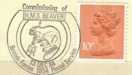 Grossbritannien Great Britain 1984 Poststempel Beaver Biber - Postmark Collection