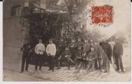 Carte Photo Provenant D'un Album Intitulé.5 Escadron Train Fontainebleau - Guerre 1914-18