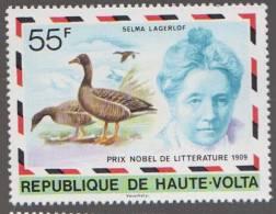 Selma Lagerlof, Swedish Author, First Woman To Win Nobel Prize In Literature , Bird  MNH Upper Volta - Famous Ladies