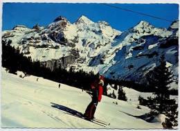 SWITZERLAND 1980 Skiiers / Ski Lift Winterfreuden Oeschinen Be - Schweiz