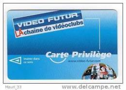 """VIDEO FUTUR - Carte """"PRIVILEGE """"  Sph�re  VOLVER """" Recto/verso  MAT - Dos Chiffres �tir�s- TBE"""