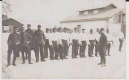 Carte Photo Provenant D'un Album Intitulé.5 Escadron Train Fontainebleau.rassemblement - Guerre 1914-18