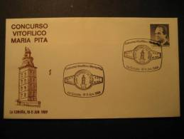 SPAIN La Coruña Galicia 1989 Lighthouse Light Phare Faro Fari Farol Leuchtturm Farola Vuurtoren Espagne - Phares