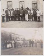 Carte Photo Provenant D'un Album Intitulé.5 Escadron Train Fontainebleau.lot De 2 - Guerre 1914-18
