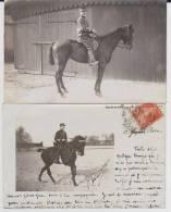 Carte Photo Provenant D'un Album Intitulé.5 Escadron Train Fontainebleau. Cavalerie Lot De 2 - Guerre 1914-18