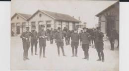 Carte Photo Provenant D'un Album Intitulé.5 Escadron Train Fontainebleau.discussion - Guerre 1914-18