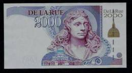 """Test Note """"De La Rue - WREN Gold 2000"""" Testnote, Intaglio, Eins. Druck, RRR, UNC - Regno Unito"""