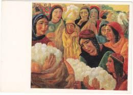 02891 Cotton Harvesting Socialist Realism Artist Volkov USSR - Uzbekistan