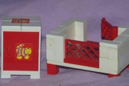 MAISON MEUBLES CHAMBRE D' Enfant BEBE Lit à Barreau + Table De Chevet  Autocollants Chat - Lego System