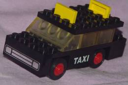 Ancien LEGO VEHICULE TAXI Noir VOITURE - Lego System
