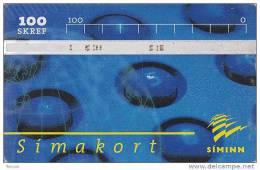 Iceland, ICE-D-20, 100 SKREF, 1998 Siminn Call Center, 2 Scans. - Iceland