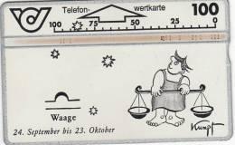 AUSTRIA - Zodiac/Libra, CN : 327E, 09/93, Used - Zodiac