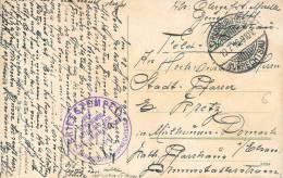 SIEGEL KRIEG CACHET OBLITERATION DER CENESUNGS ABTELLUNG DER KOMMANDATUR GUERRE KRIEG - Poststempel (Briefe)