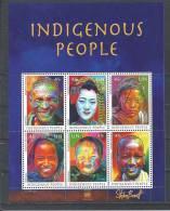 UN-New York. Scott #  1053a-f, MNH Sheetlet Of 6. Indigenous People.  2012 - New-York - Siège De L'ONU