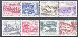 Austria 729-36   *   U.P.U. Issue - 1961-70 Unused Stamps