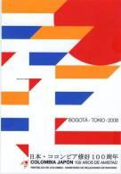 Lote PEP323, Colombia, Postal, Postcard, Colombia, Japon 100 Años De Amistad, 2008, Japan - Colombia