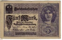 BILLET ALLEMAGNE - EMPIRE - P.56 - 5 MARK - 1917 - [ 2] 1871-1918 : Imperio Alemán