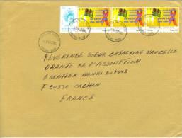 VEND TIMBRES DU TOGO N° 3361 + 3323 EN BANDE DE 3 , SUR LETTRE, COTE:? , !!!! - Togo (1960-...)
