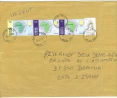 VEND TIMBRES DU TOGO N° 2857 + 3161 + 3162 X 2 , SUR LETTRE, COTE:? , !!!! - Togo (1960-...)