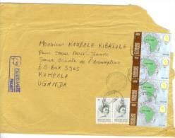 VEND TIMBRES DU TOGO N° 2846 X 2 + 3165 EN BANDE DE 4 , SUR LETTRE, COTE:?,?, !!!! - Togo (1960-...)