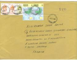VEND TIMBRES DU TOGO N° 2843 + 2853 EN PAIRE + 3161 EN PAIRE , SUR LETTRE, COTE : ?,?,?, !!!! - Togo (1960-...)