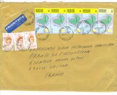 VEND TIMBRES DU TOGO N° 2853 X 3 DONT 1 PAIRE + 3159 EN BANDE DE 4 + 3161 , SUR LETTRE , COTE : ?,?,?, !!!! - Togo (1960-...)