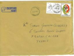 VEND TIMBRES DU TOGO N° 3246 + 2857 EN PAIRE , SUR LETTRE , COTE : ?,?,?, !!!! - Togo (1960-...)