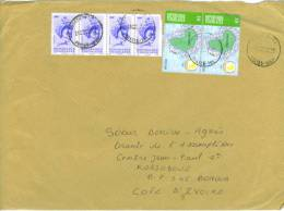 VEND TIMBRES DU TOGO N° A2849 EN BANDE DE 4 + 3160 EN PAIRE , SUR LETTRE , COTE : ?,?,?,?, !!!! - Togo (1960-...)