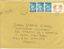 VEND TIMBRES DU TOGO N° A2979 EN BANDE DE 3 + 2848 EN PAIRE , SUR LETTRE , COTE : ?,?,?,?,?, !!!! - Togo (1960-...)