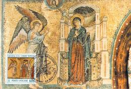 VATICAN CARTE MAXIMUM NUM.YVERT  937 NOEL MOSAIQUE XIII SIECLE DE LA BASILIQUE SAINTE MARIE MAJEURE ROME - Maximum Cards