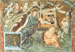 VATICAN CARTE MAXIMUM NUM.YVERT  938 NOEL MOSAIQUE XIII SIECLE DE LA BASILIQUE SAINTE MARIE MAJEURE ROME - Maximum Cards