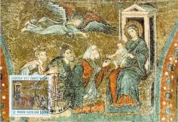 VATICAN CARTE MAXIMUM NUM.YVERT  939 NOEL MOSAIQUE XIII SIECLE DE LA BASILIQUE SAINTE MARIE MAJEURE ROME - Maximum Cards