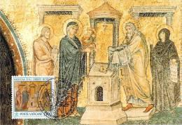 VATICAN CARTE MAXIMUM NUM.YVERT  940 NOEL MOSAIQUE XIII SIECLE DE LA BASILIQUE SAINTE MARIE MAJEURE ROME - Maximum Cards