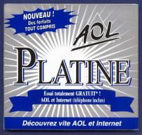 AOL 5.0 Platine. Pochette Triptyque, Carton Et Plastique. - Kits De Connexion Internet