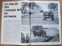 """Magazine Avec Article """"Congo, La Faillite Des Casques Bleus Au Katanga"""" 1961 - Old Paper"""