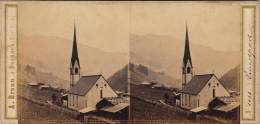 Photo Stéréo Suisse Eglise De Lanerspach ??? Difficile à Lire - Stereoscopic