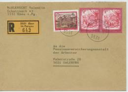 Einschreibe-Brief Reco Eben Im Pongau-Salzburg MiFr 1986 - 1945-.... 2. Republik