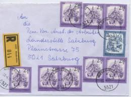 Einschreibe-Brief Reco Niedernfritz-Salzburg MiFr 1986 - 1945-.... 2. Republik