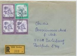 Einschreibe-Brief Reco Flachau-Salzburg MiFr Mit Ganzsache 1982 - 1945-.... 2. Republik