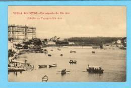 VILA DO CONDE / PORTO / PORTUGAL - UM ASPECTO DO RIO AVE - Animado. Old Portuguese Postcard - Porto
